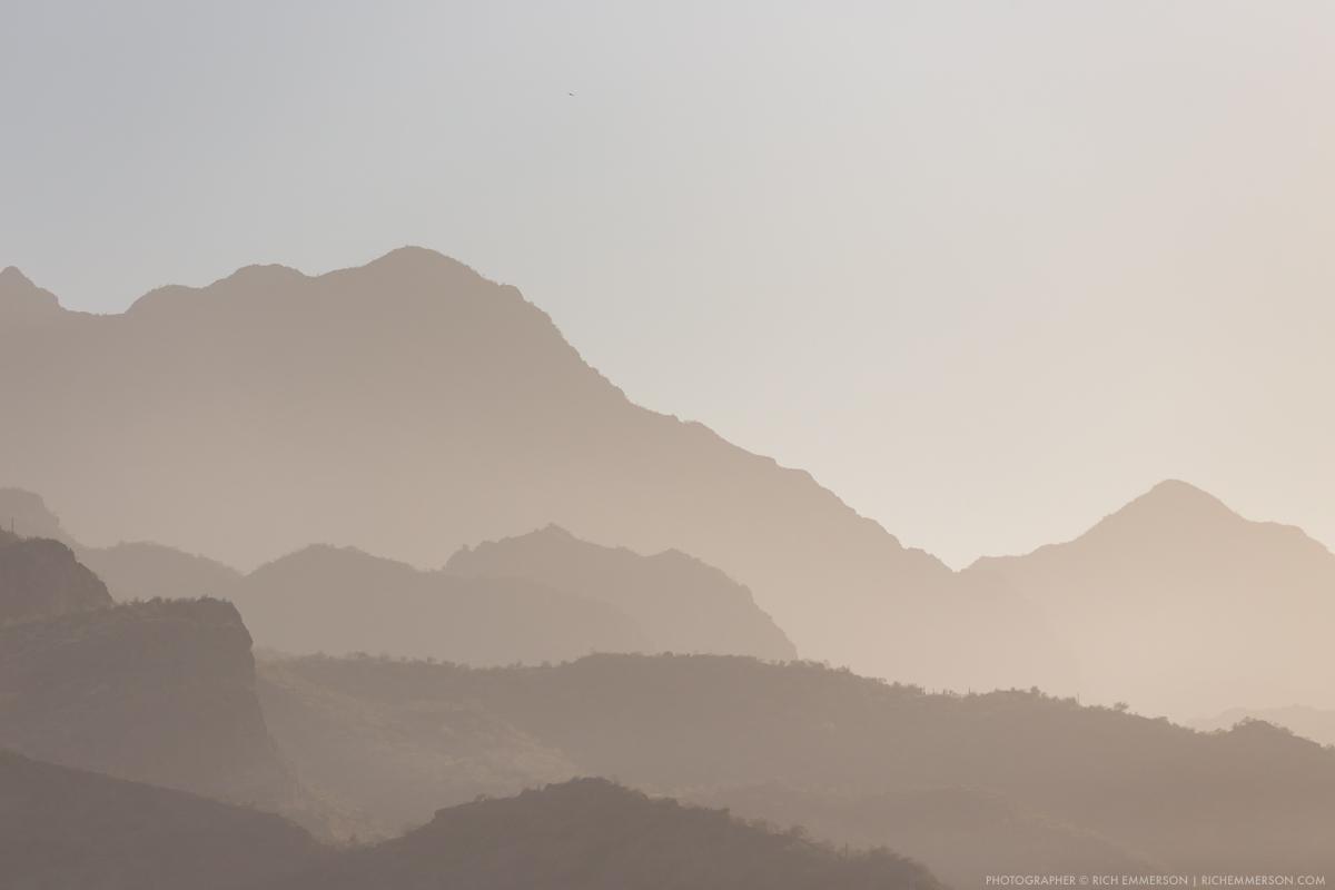 Hazy Sunset Sierra de la Giganta