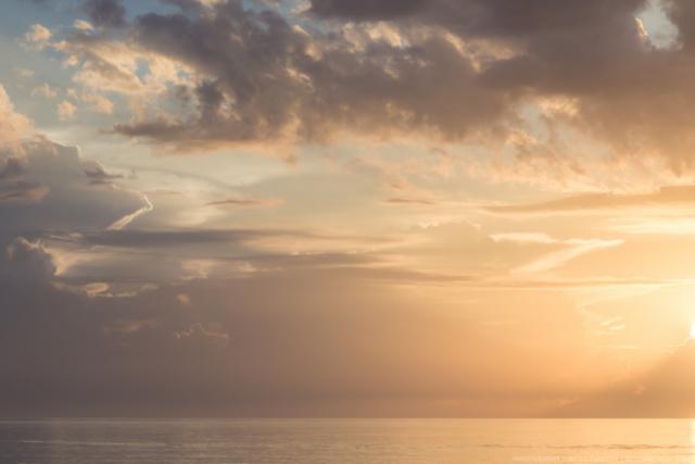 Cloud morning over the Sea of Cortez near Loreto, Mexico