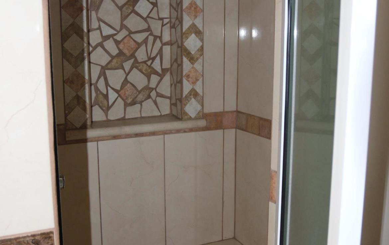 off white tile bathroom