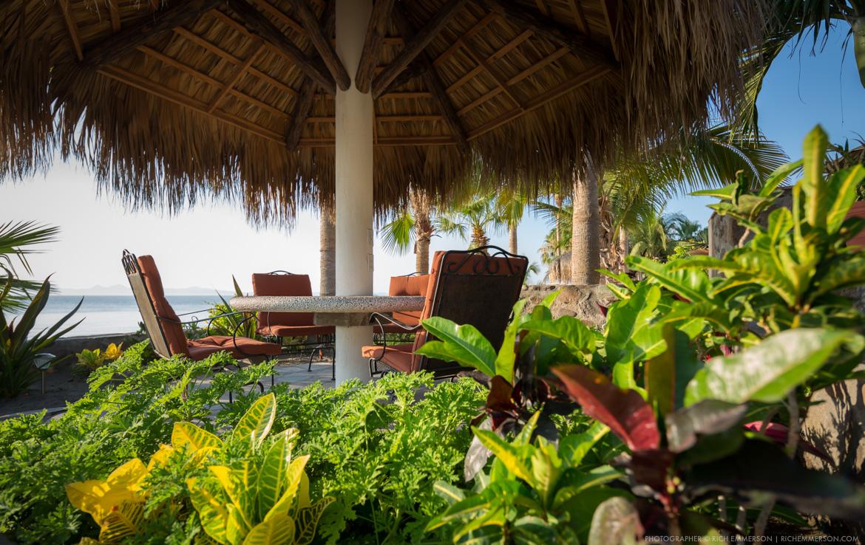 beach front garden sitting